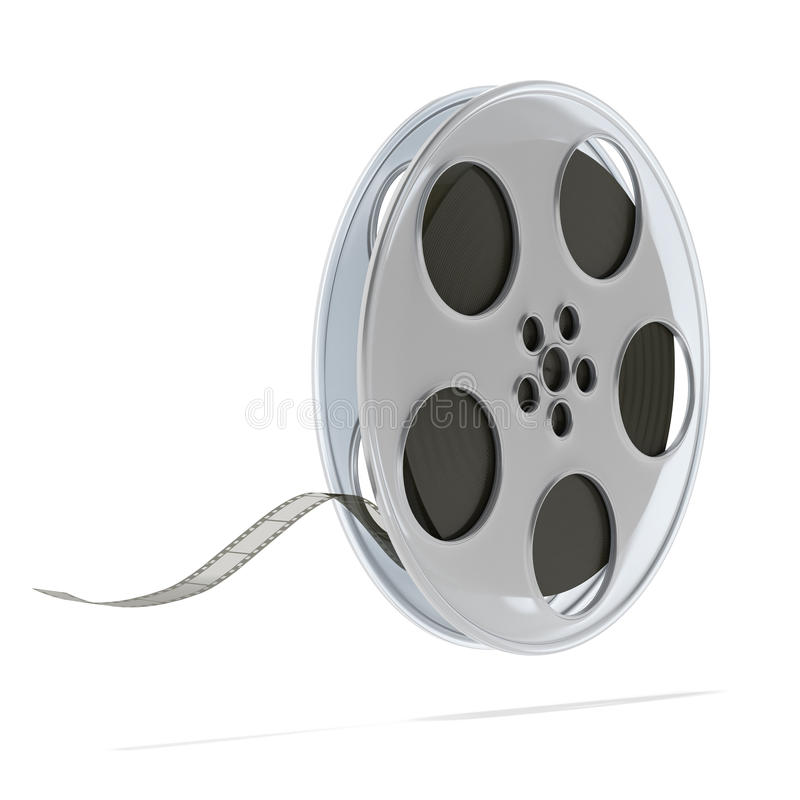 Movie film reel. Isolated on a white background vector illustration