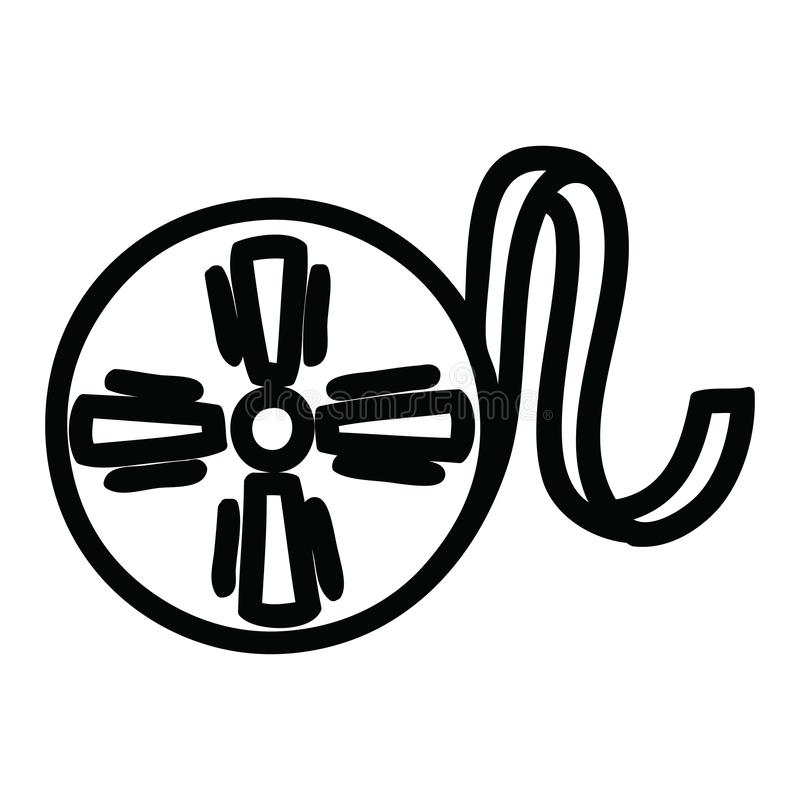 Movie film reel icon. A creative illustrated movie film reel icon image stock illustration
