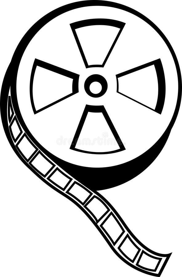 movie film reel vector illustration royalty free illustration