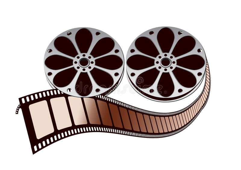 Download Movie film roll stock illustration. Illustration of metal - 12772657