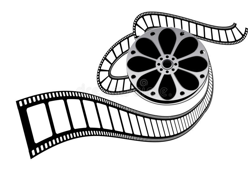 Movie film roll royalty free illustration