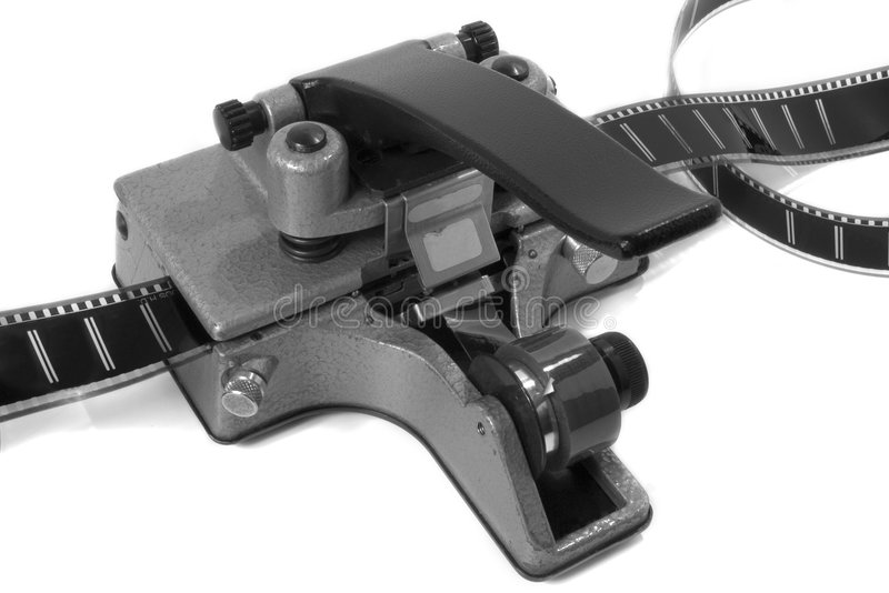 Movie Film Splicer 1 (black and white) stock photography