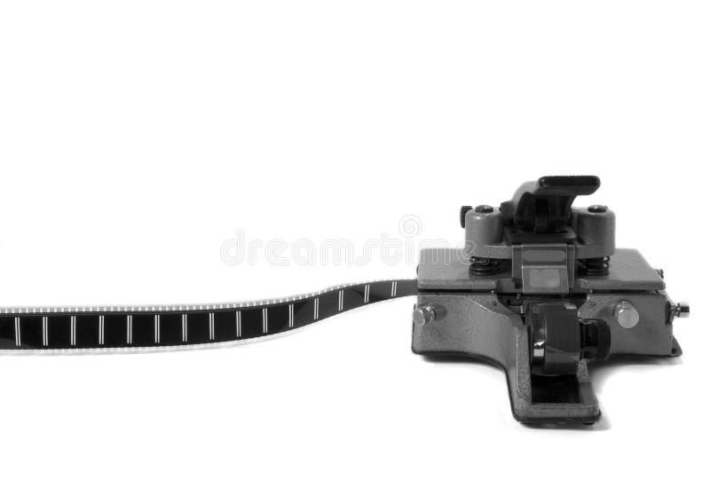 Movie Film Splicer 3 (black and white) stock images