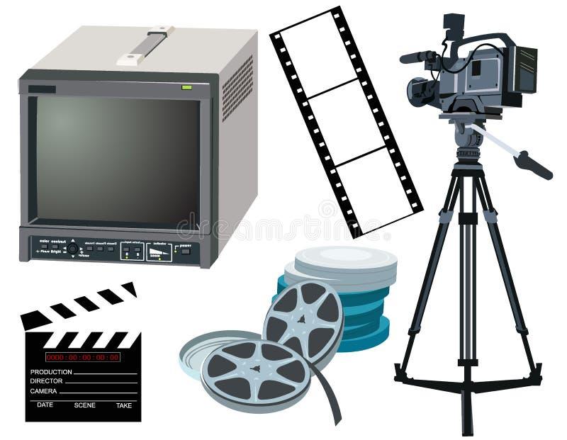 Movie gear vector illustration