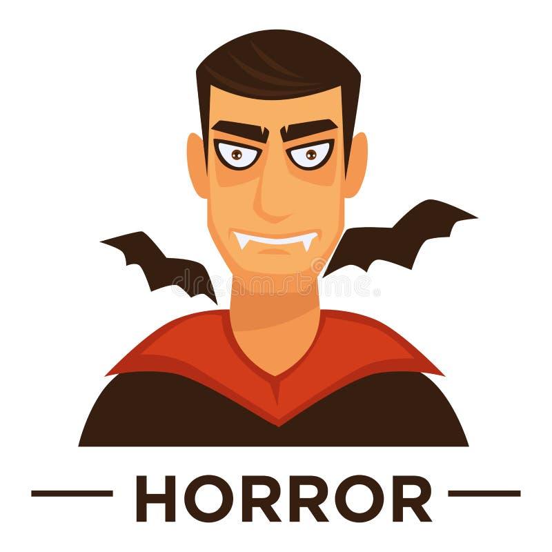 Movie genre horror cinema vector icon of vampire man royalty free illustration