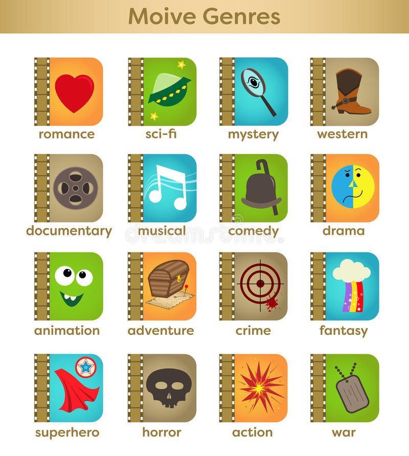 Movie Genres royalty free illustration