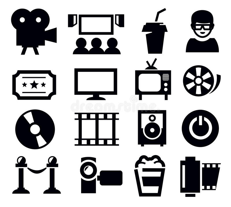 Download Movie icon stock vector. Image of reel, movie, screen - 29205147