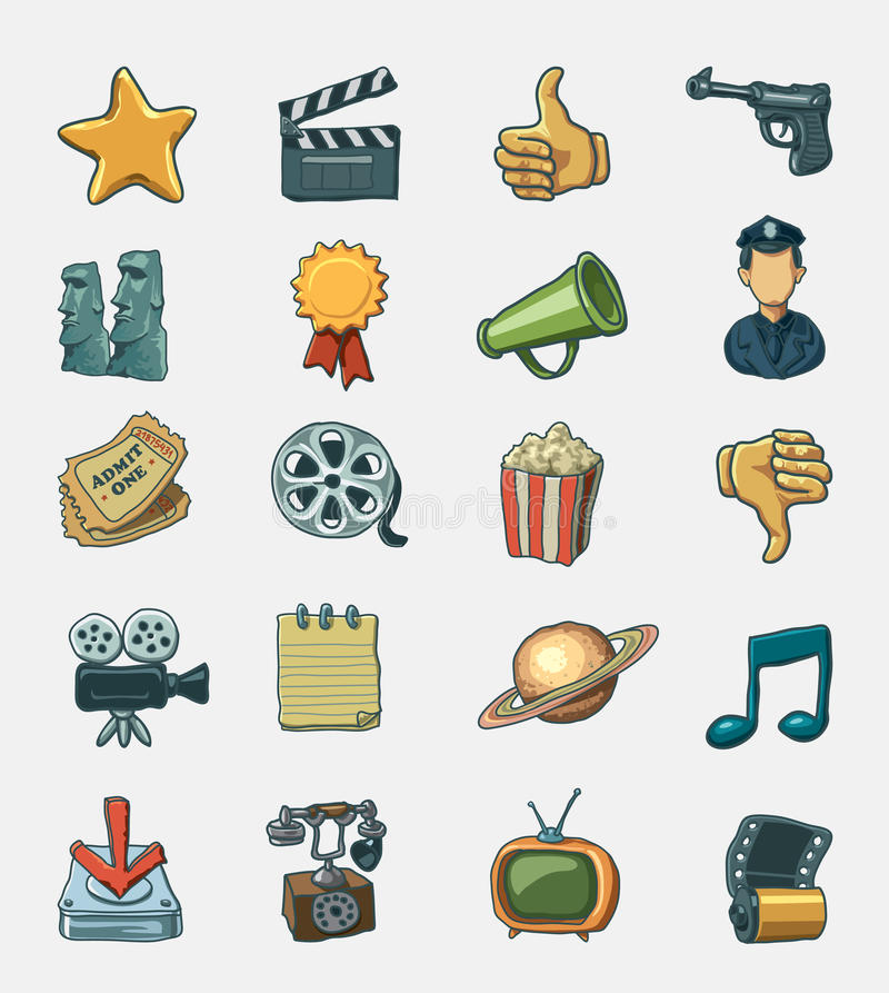Download Movie Icon Set Royalty Free Stock Photos - Image: 20636668