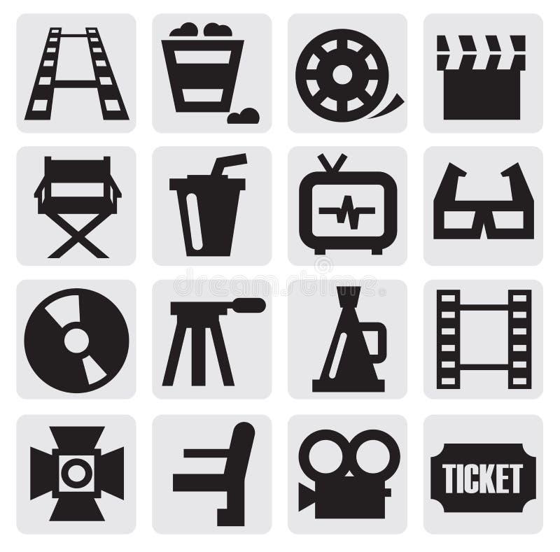 Movie Icon Set Royalty Free Stock Image