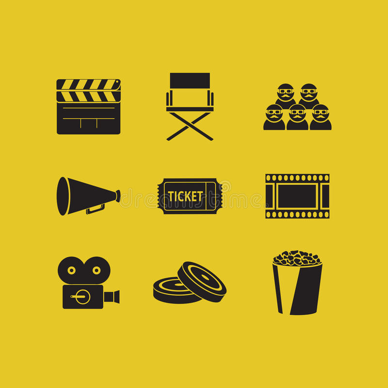 Free Movie Icons Stock Photography - 51766152