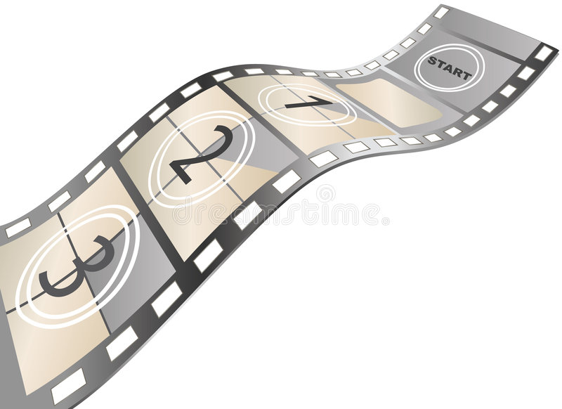 Movie items. Isolated ,abstract background