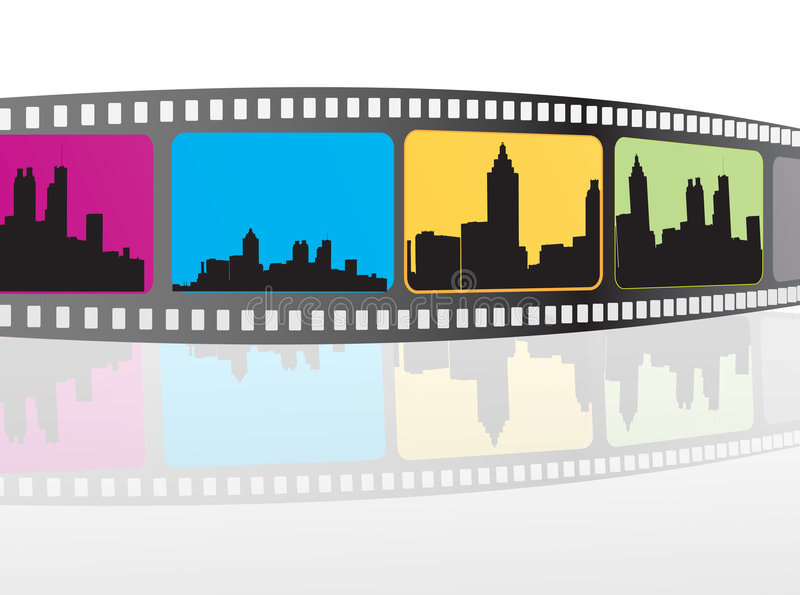 Movie items. Isolated , abstract background