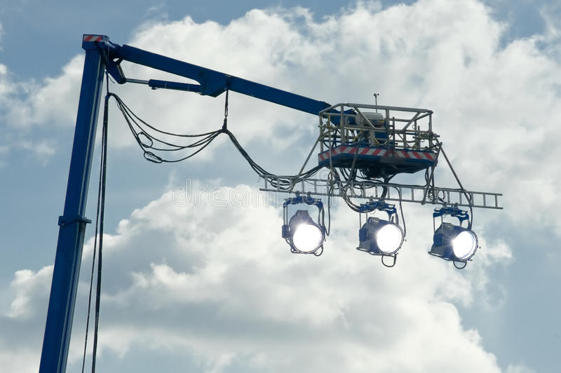 Download Movie lights stock photo. Image of platform, crane, special - 23810330