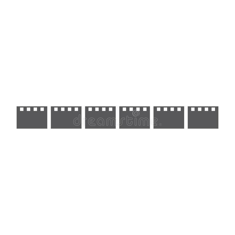 Movie logo ilustration vector. Template, abstract, analog, background, black, blank, camera, cinema, clip, coil, design, develop, entertainment, equipment vector illustration