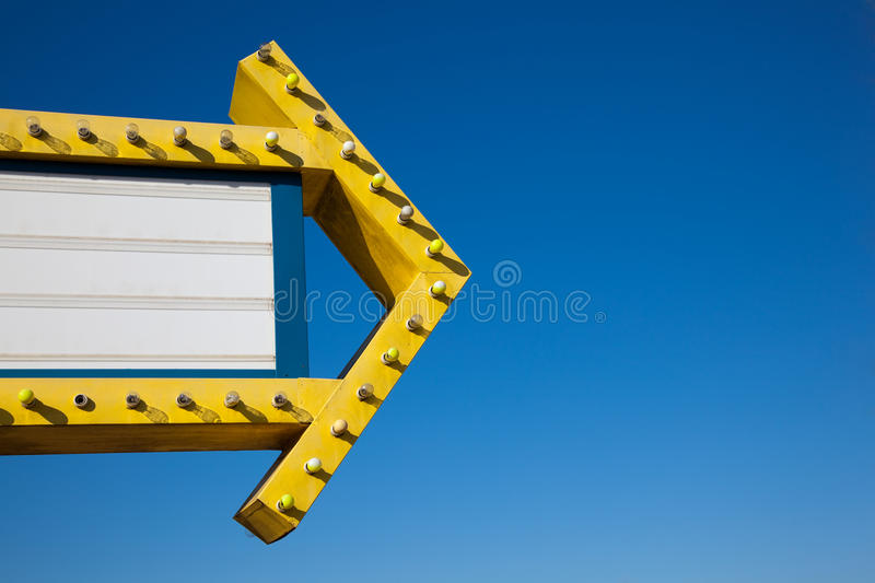 Download Movie Marguee In Front Of Blue Sky Stock Image - Image: 10744715