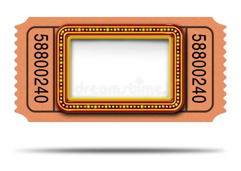 Movie Marqueee Ticket Stock Photo