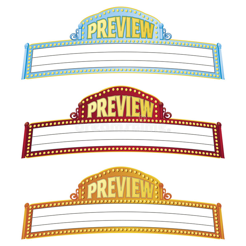 Movie Marquees vector illustration