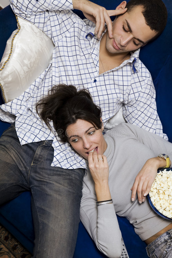 Download Movie night stock photo. Image of living, bowl, control - 1701834