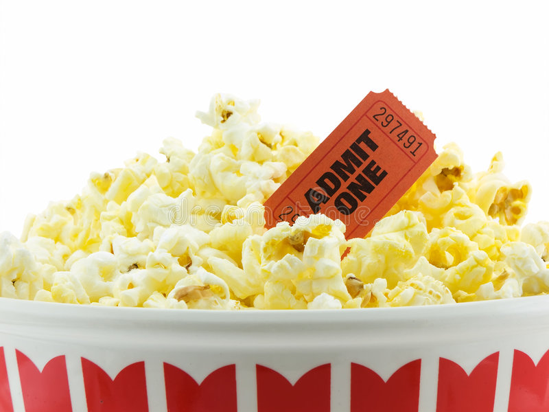 Download Movie Night stock image. Image of isolated, corn, stub - 3681451