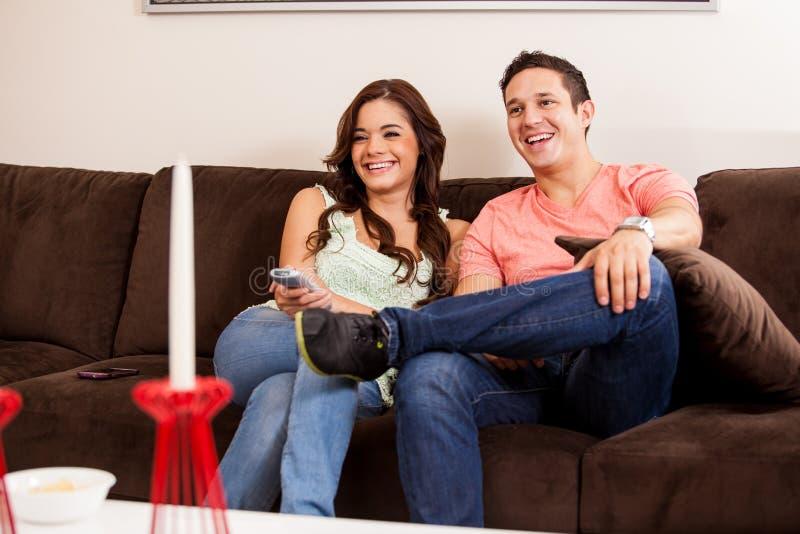 Movie night with my boyfriend royalty free stock photo