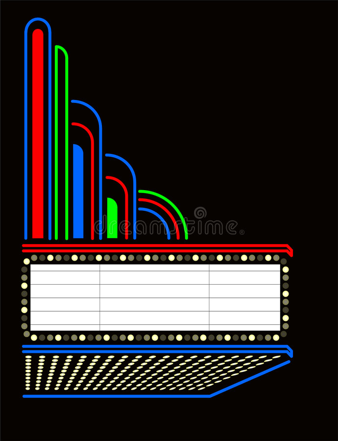 Free Movie/Play Marquee/eps Stock Photography - 3017962