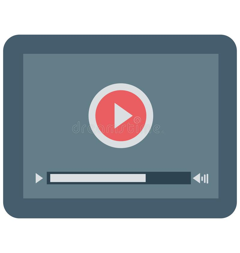 Movie Player, Video Player Isolated Vector Icon. NVector Icon stock illustration