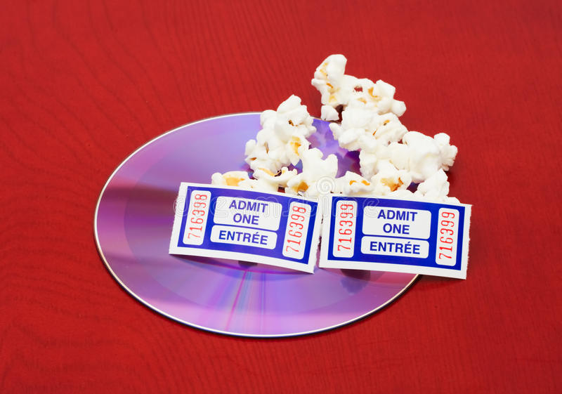 Download Movie and Popcorn stock image. Image of background, ticket - 14773025