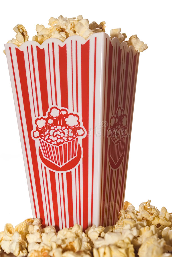 MOVIE POPCORN royalty free stock photo