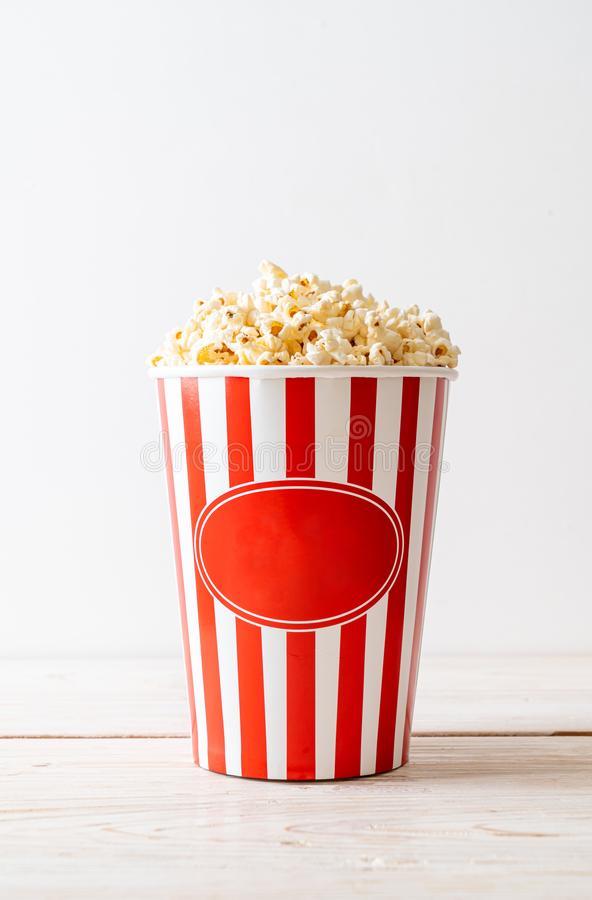 Movie Popcorn in bucket royalty free stock images
