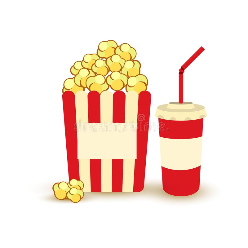 movie poster template popcorn soda takeaway cinema design rh dreamstime com