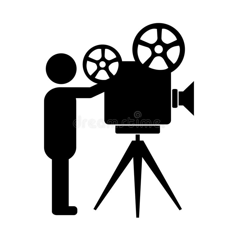 Free Movie Producer Vector Icon Stock Image - 109959321