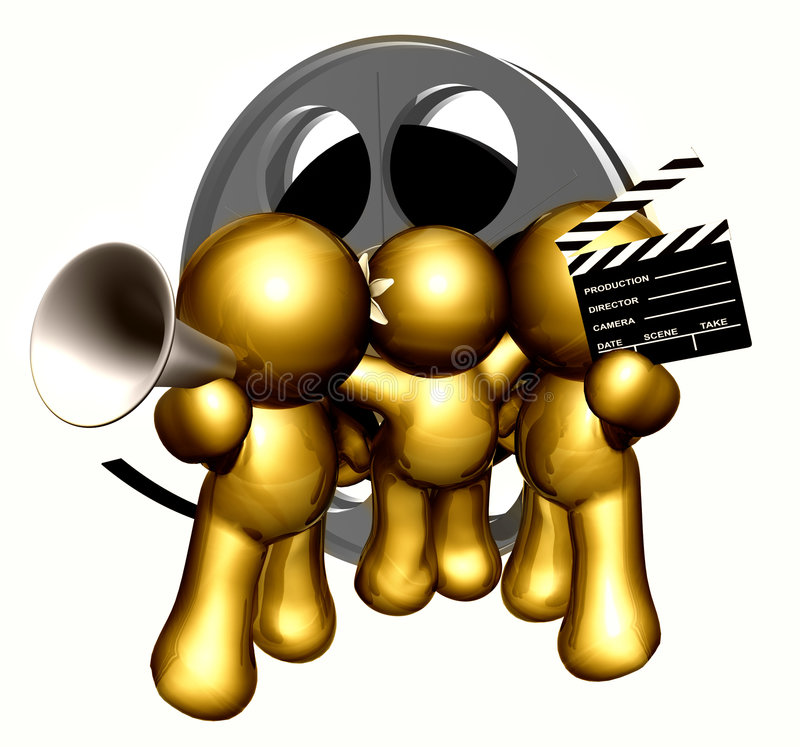 Movie production crew icon figures royalty free illustration