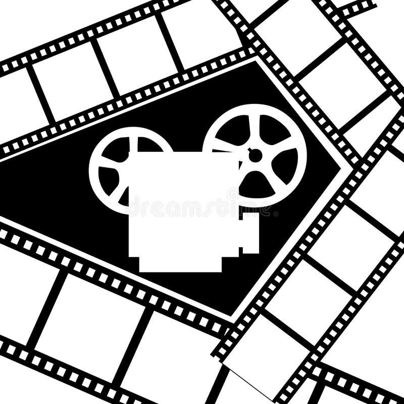 Movie projector stock illustration