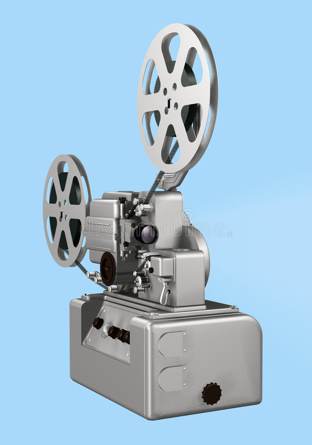 Movie projector stock image