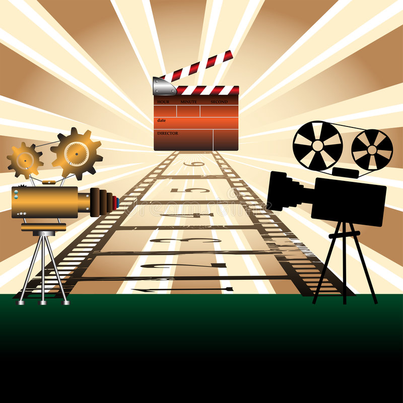 Download Movie Projectors And Clapboard Stock Vector - Image: 9023827