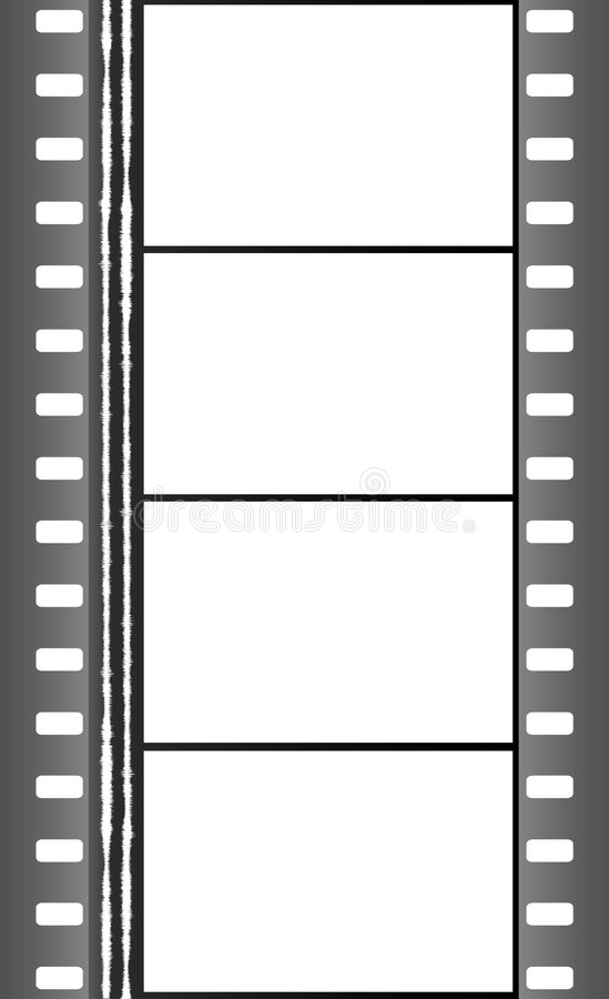 4 frames Movie Reel stock illustration. Illustration of cinema - 2928763