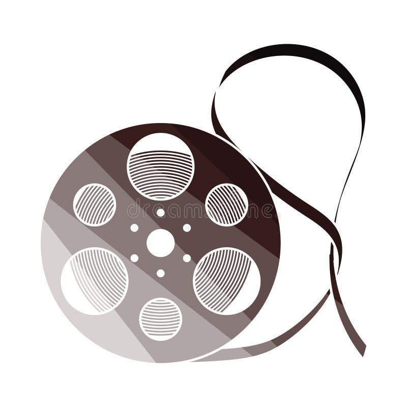 Movie reel icon. Flat color design. Vector illustration vector illustration