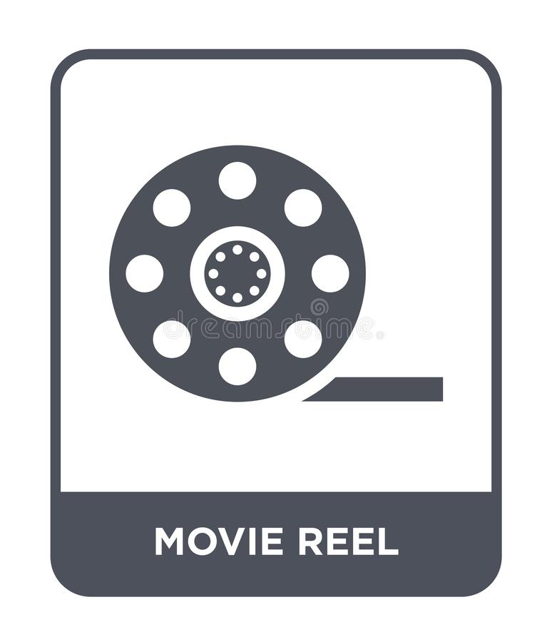 Movie reel icon in trendy design style. movie reel icon isolated on white background. movie reel vector icon simple and modern. Flat symbol for web site, mobile royalty free illustration