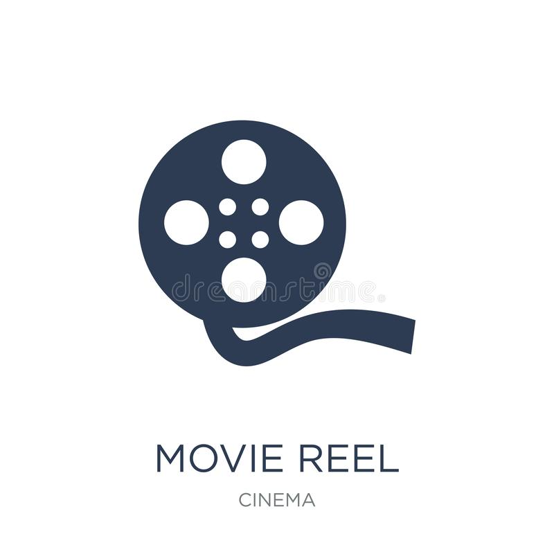 Movie reel icon. Trendy flat vector Movie reel icon on white background from Cinema collection vector illustration