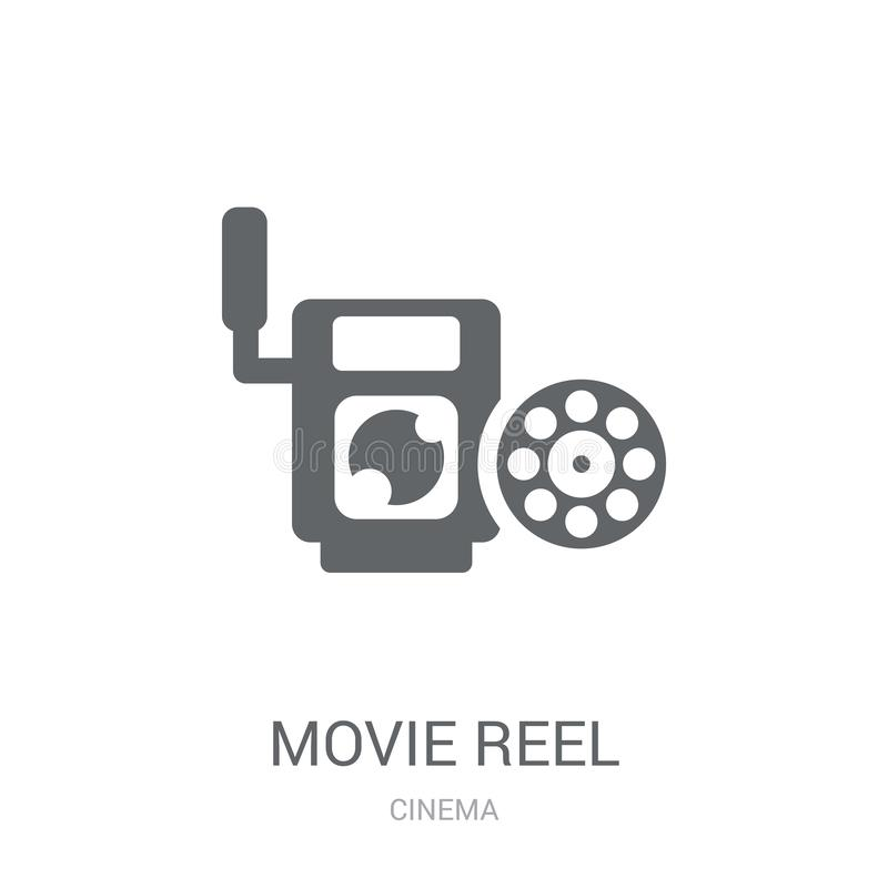 Movie reel icon. Trendy Movie reel logo concept on white background from Cinema collection. Suitable for use on web apps, mobile apps and print media royalty free illustration