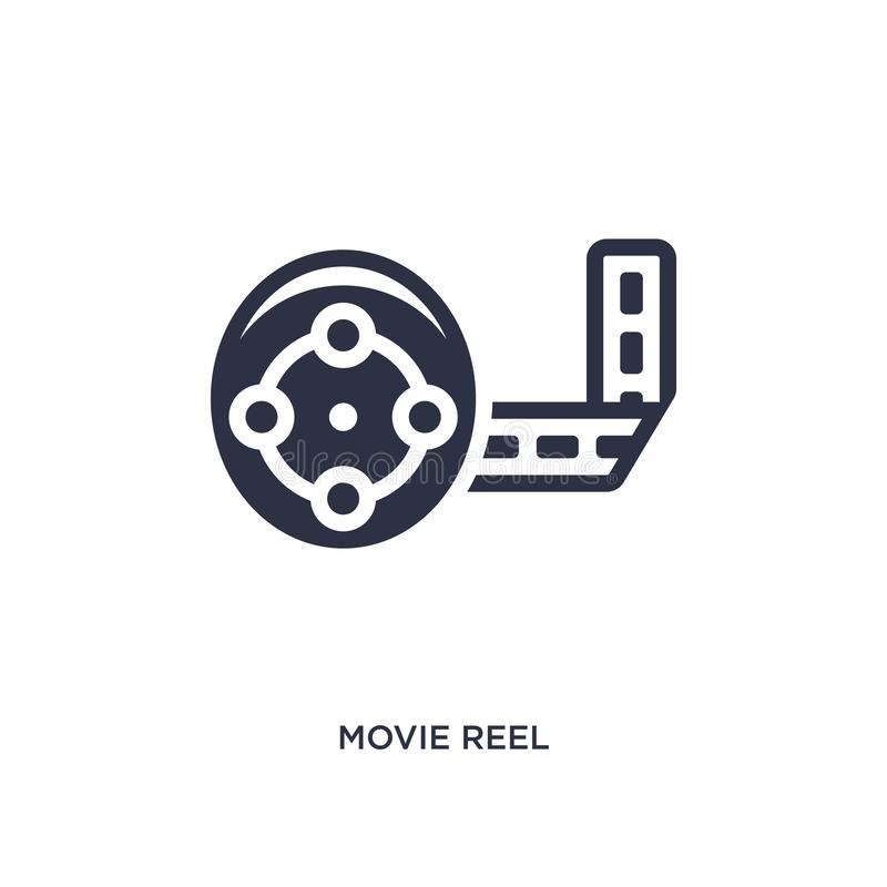 movie reel icon on white background. Simple element illustration from cinema concept royalty free illustration