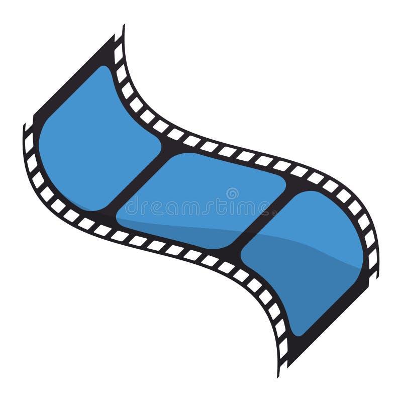 Movie reel isolated. Symbol vector illustration graphic design stock illustration