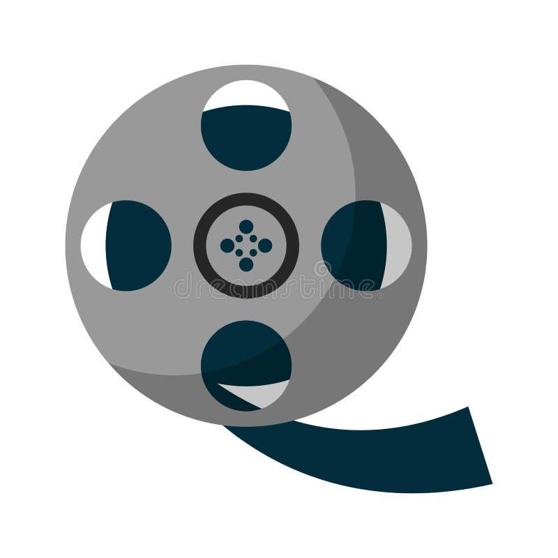 Movie reel symbol. Isolated vector illustration graphic design stock illustration