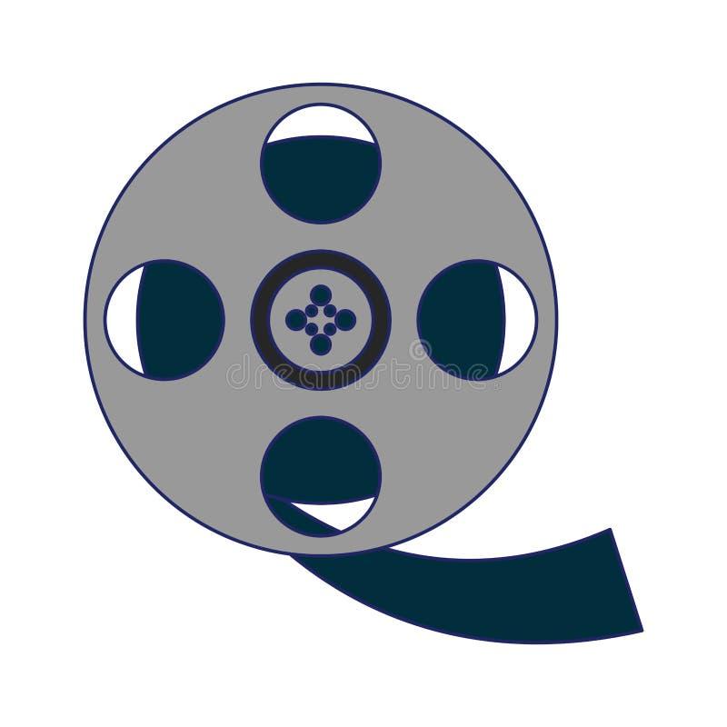 Movie reel symbol. Isolated vector illustration graphic design vector illustration