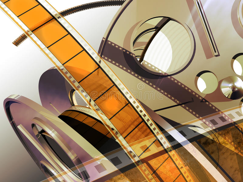 Movie reels stock illustration