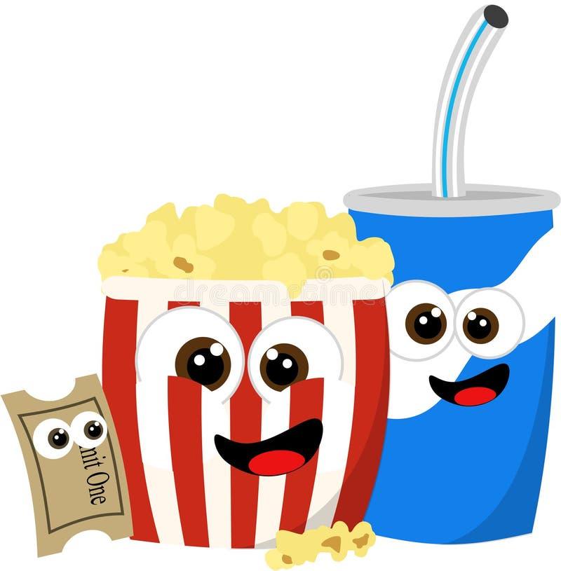 Download Movie refreshments stock illustration. Image of popcorn - 18194131