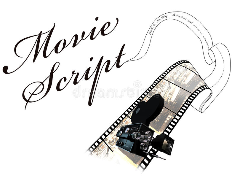 Movie script stock illustration