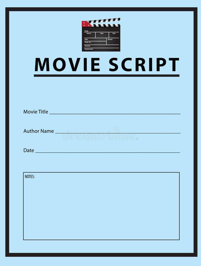 Movie script. Workbook for the movie script. Vector illustration royalty free illustration