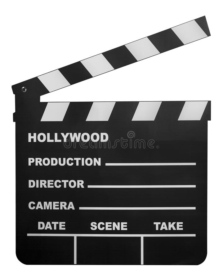 Movie shooting board. Isolate on white stock image