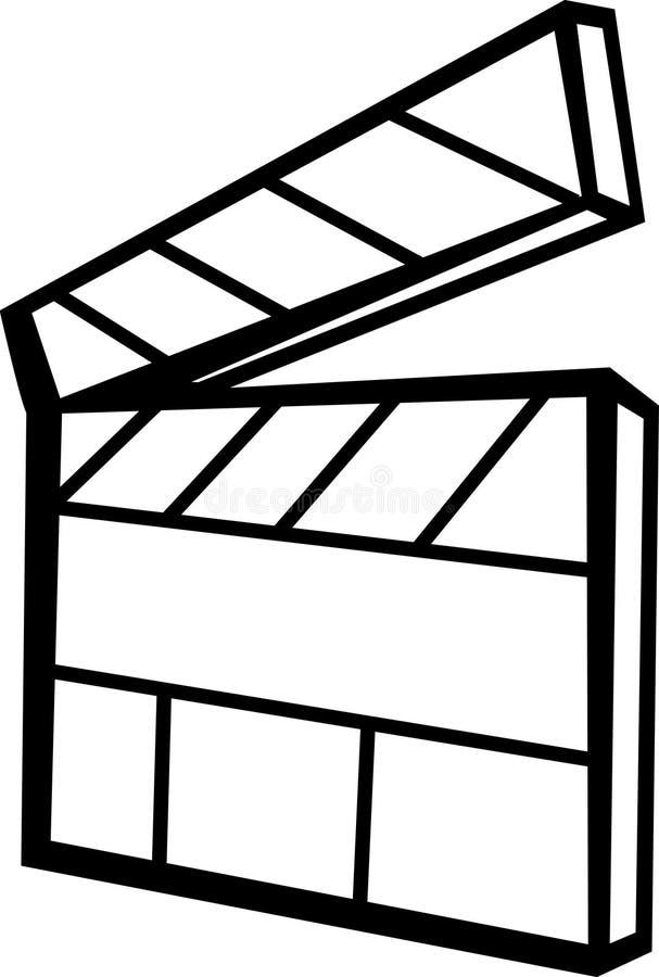 Movie slate board vector illustration stock illustration